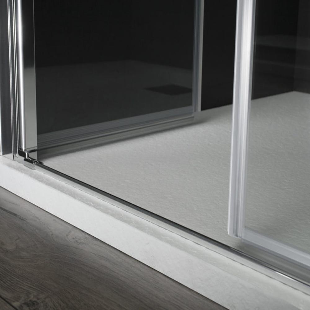 Porta doccia Kronos apertura saloon da 100 cm cristallo trasparente 6 mm temperato