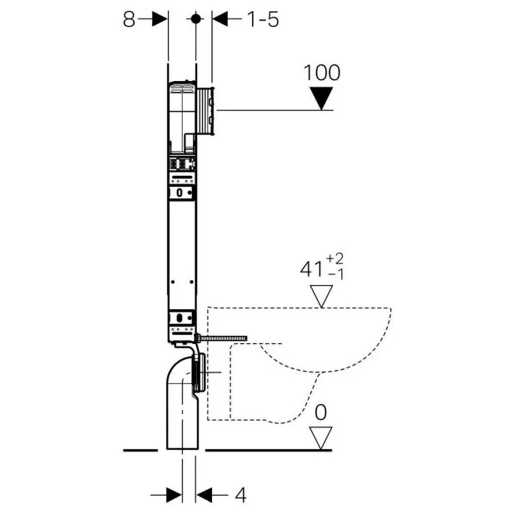 Cassetta di scarico Geberit Combifix per l'installazione semplificata di WC sospesi