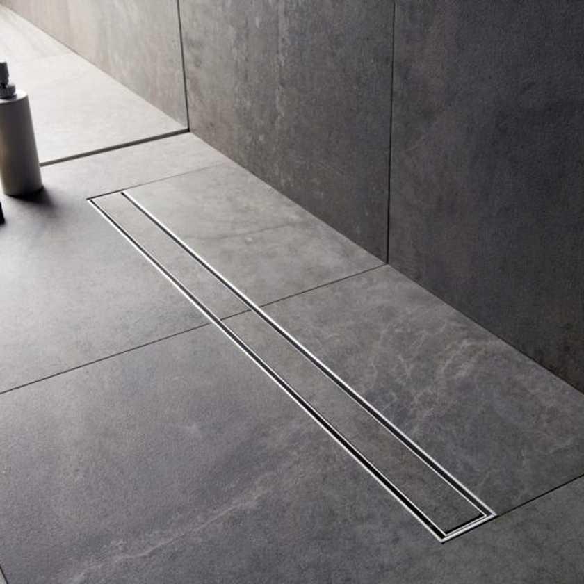 Canaletta per doccia a pavimento Tekness da 70 cm con Griglia Piastrellabile