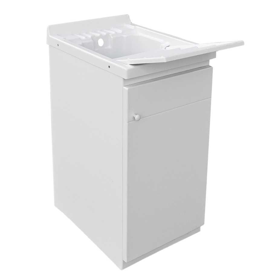 Lavatoio per esterno 45x60 in resina completo di tavoletta strizzatoio 1 anta