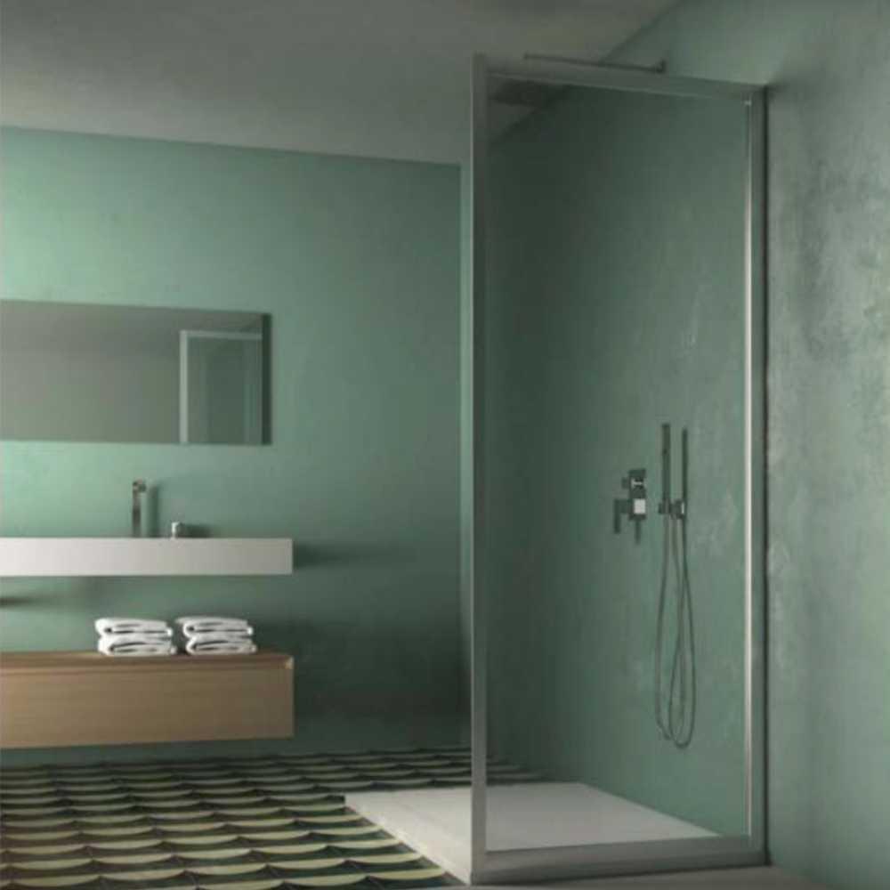 Pannello fisso da cm 70 per box doccia Smart in cristallo temperato trasparente 6 mm