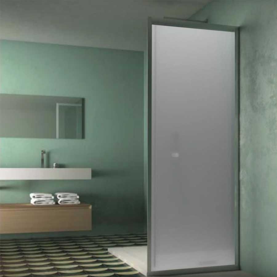 Pannello fisso da cm 80 per box doccia Smart in cristallo temperato opaco 6 mm