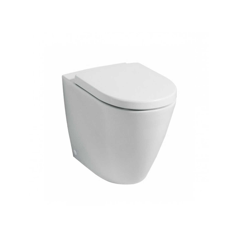 Vaso filomuro Rimless con scarico universale e sedile tradizionale modello Fast- Pozzi Ginori cm 56