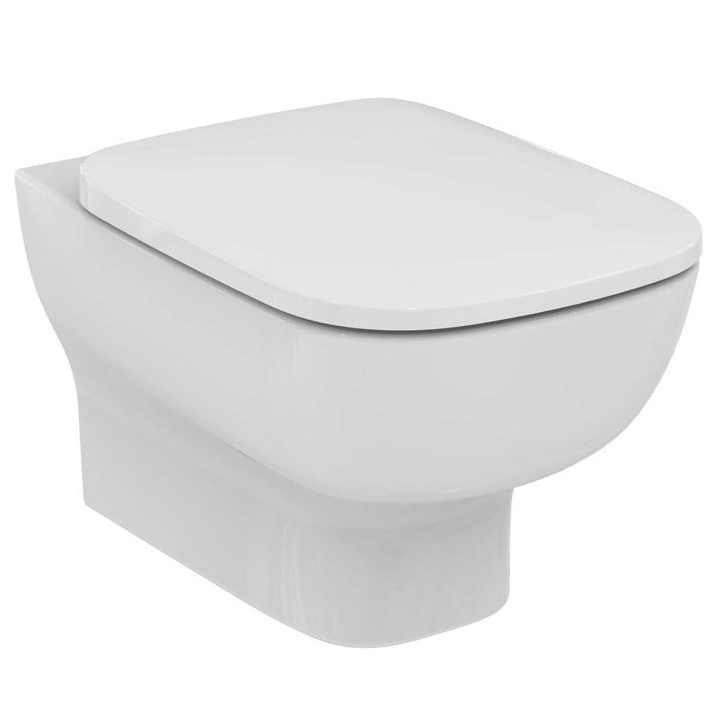 Vaso sospeso con sedile slim a chiusura rallentata modello Esedra Ideal Standard
