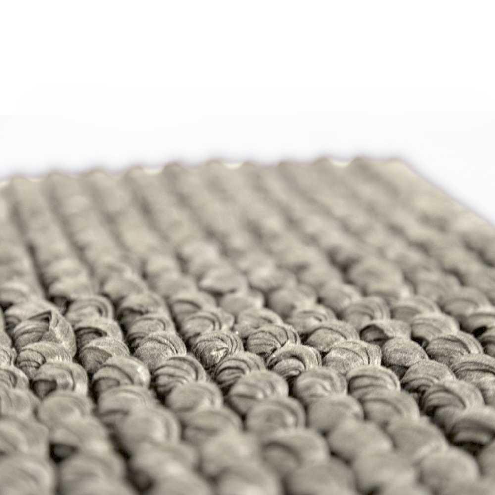 Tappeto bagno Rug cm 110x60 in fibra naturale e cotone con intreccio tessuto. Colore Ecrù Cipì Bathroom
