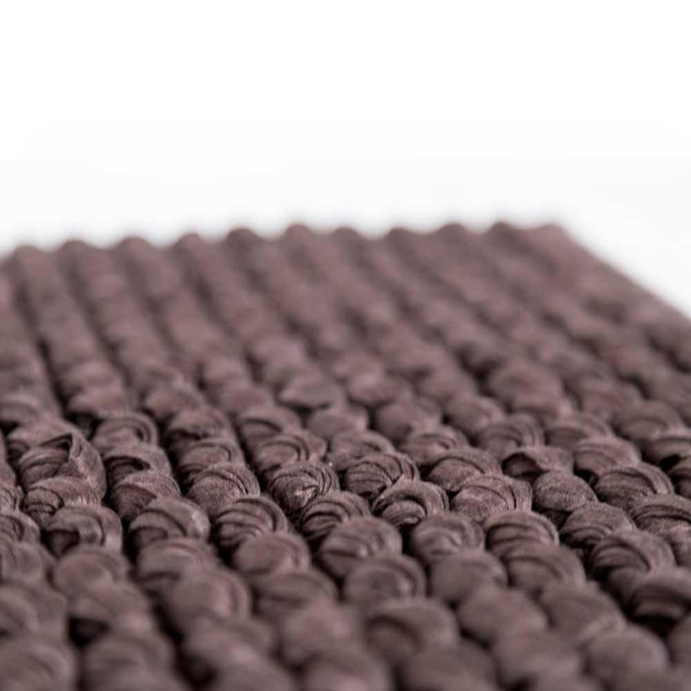 Tappeto bagno Rug cm 110x60 in fibra naturale e cotone con intreccio tessuto. Colore Marrone Cipì Bathroom