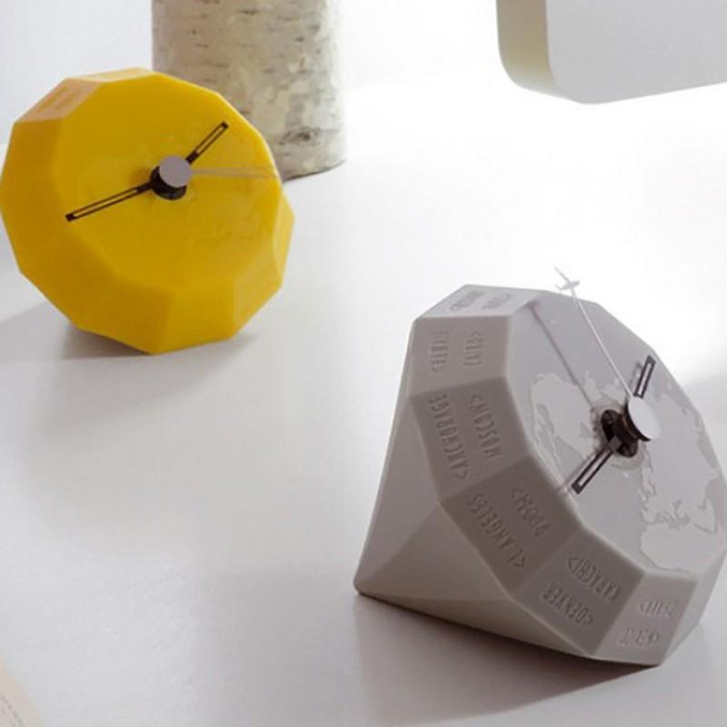 Orologio da tavolo in gel poliuretanico mod. GLOBE GEELLI