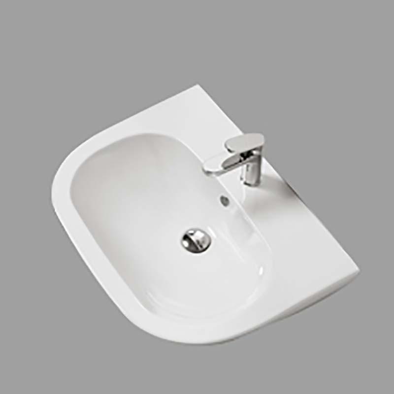 Lavabo Sospeso modello Pratica cm 64,5 Ceramica Azzurra Design Moderno