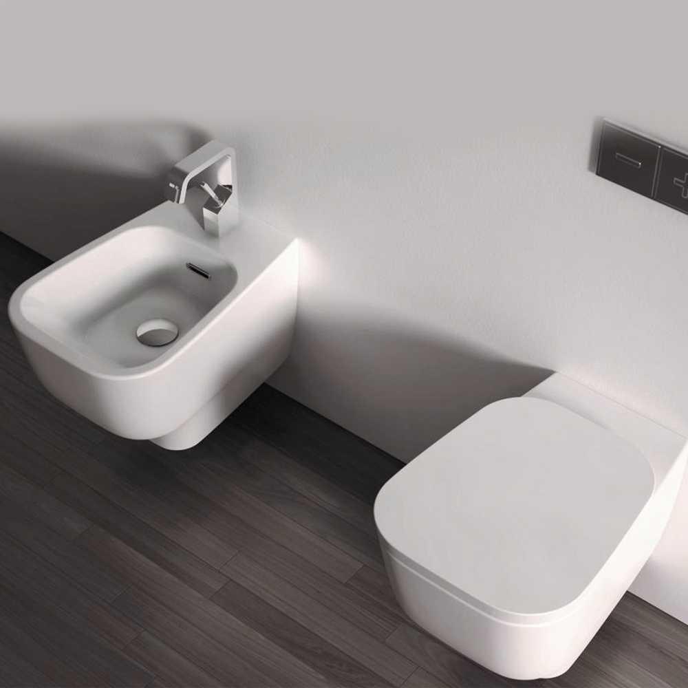 Sanitari Sospesi F50 Small Domus Falerii wc - sedile softclose - bidet