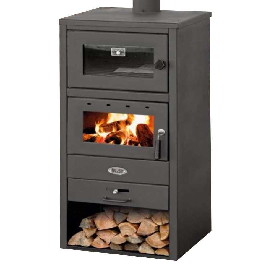 PROMO - Stufa a legna con forno modello Blist BR colore Antracite potenza termica 12,0 kW