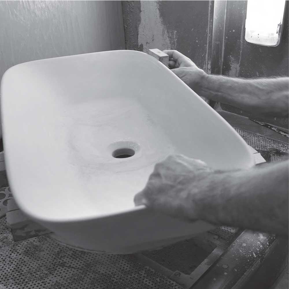 Lavabo da appoggio squadrato Ceramica Azzurra Elegance 75x45 cm