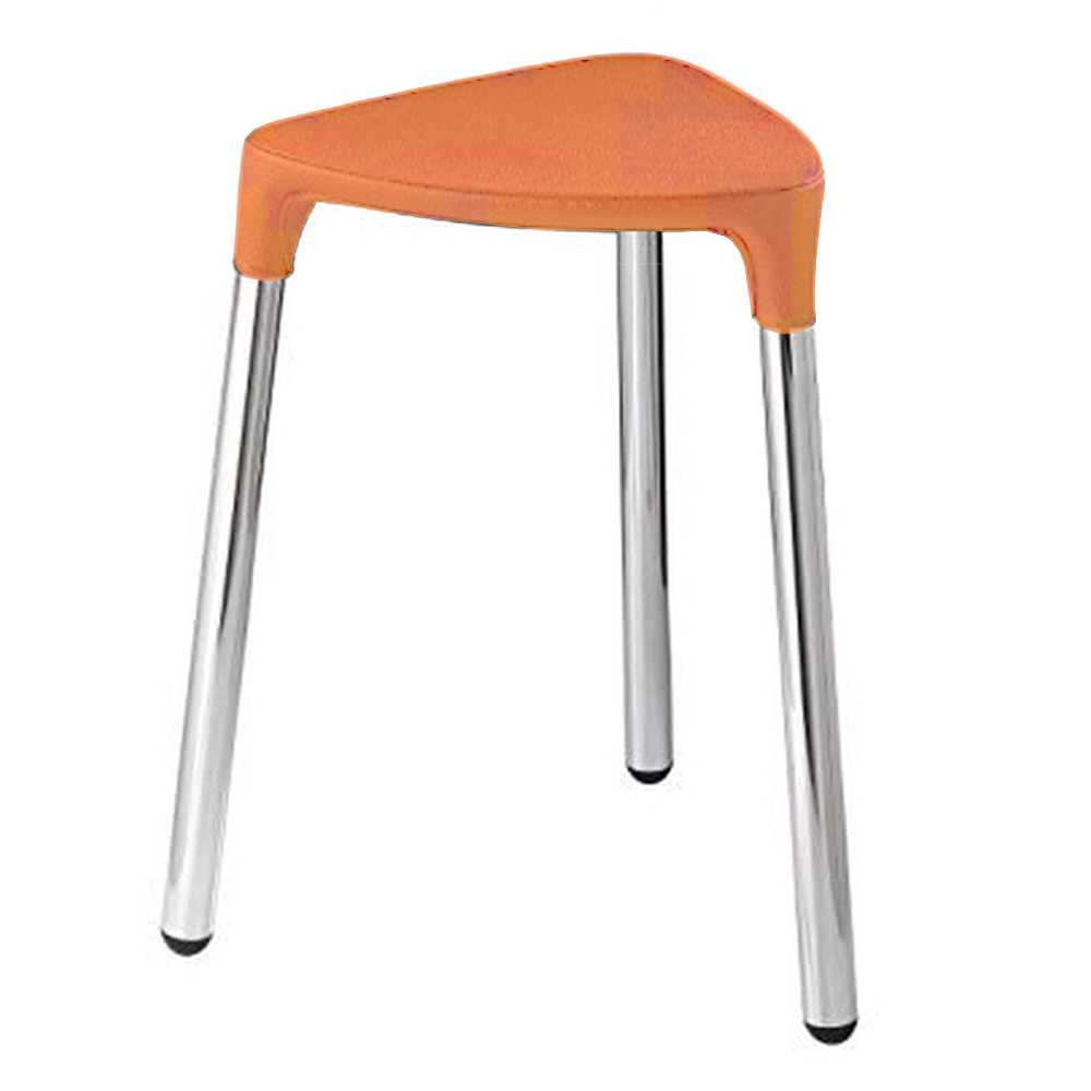 Gedy Sgabello Mod. Yannis Colour in acciaio ed ecopelle color arancione