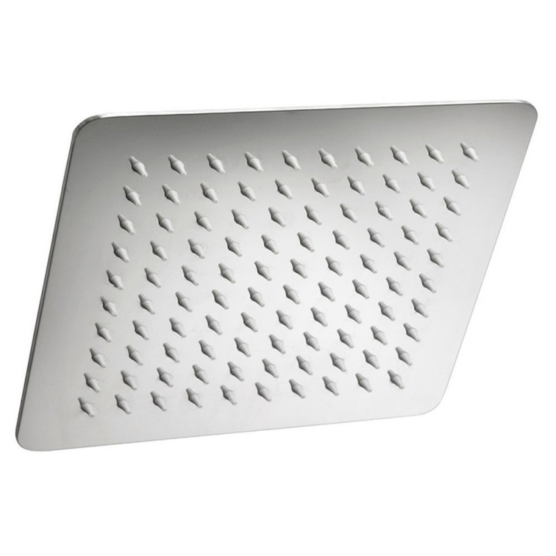 Soffione doccia quadrato anti calcare 20x20 acciaio inox lucidato a specchio