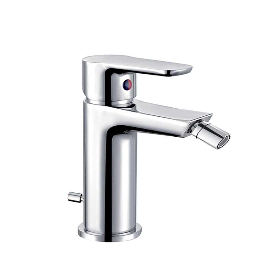 Miscelatore rubinetto bidet con snodo orientabile Cisal completo di scarico