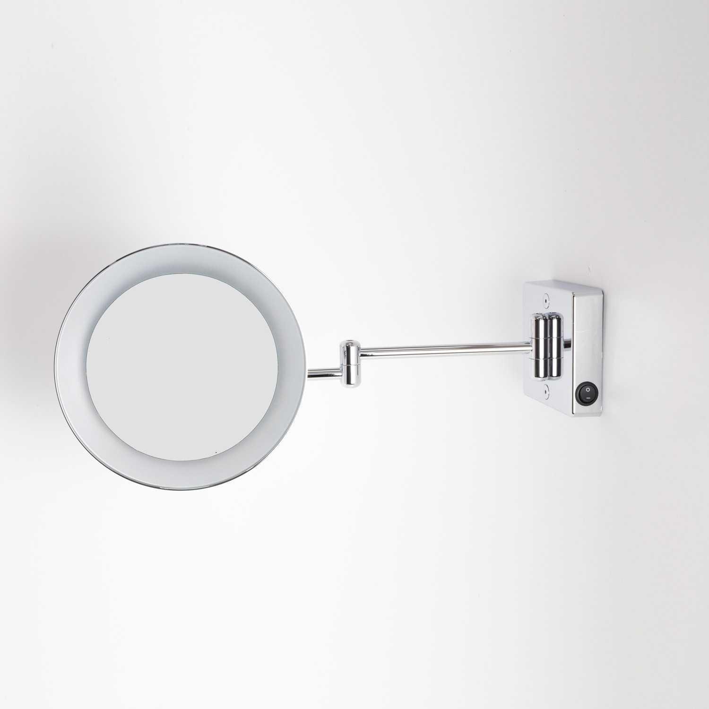 Specchio ingranditore orientabile koh-i-noor modello Discolo LED con braccio doppio