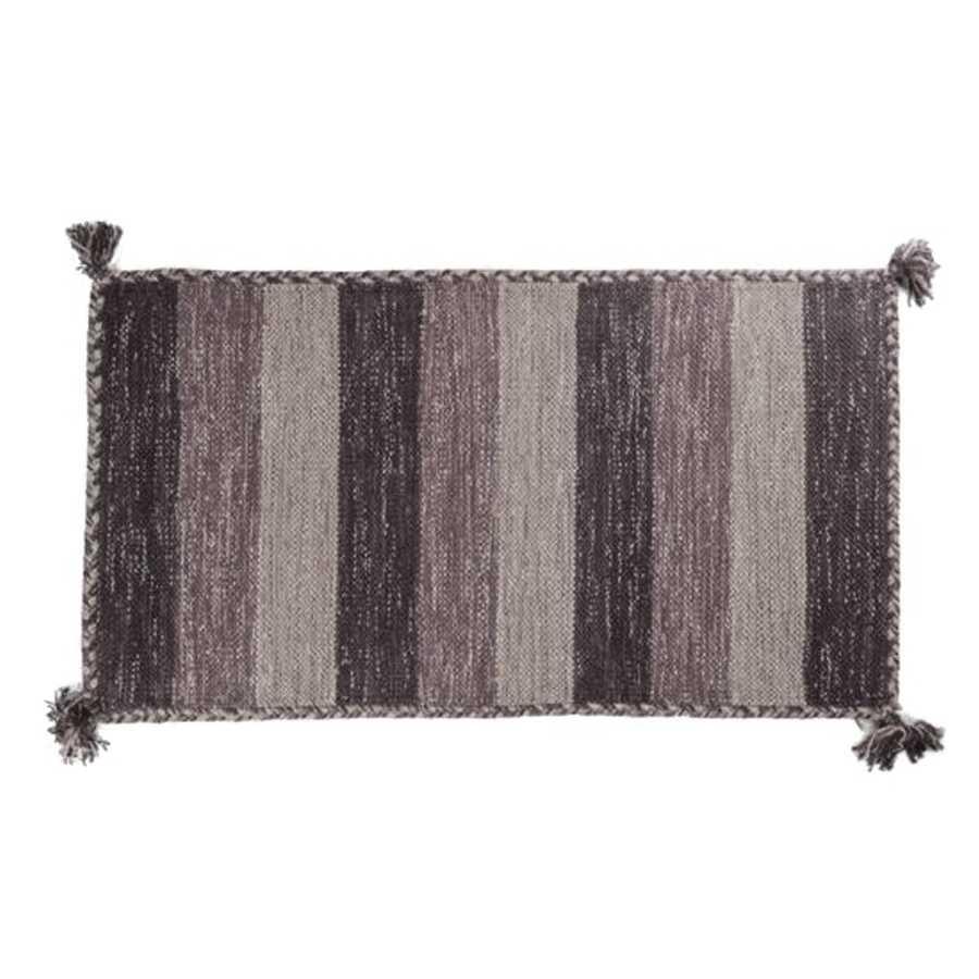 Tappeto bagno Aladin cm 100x55 100% cotone e lurex argento. Colore Avorio a righe Cipì Bathroom