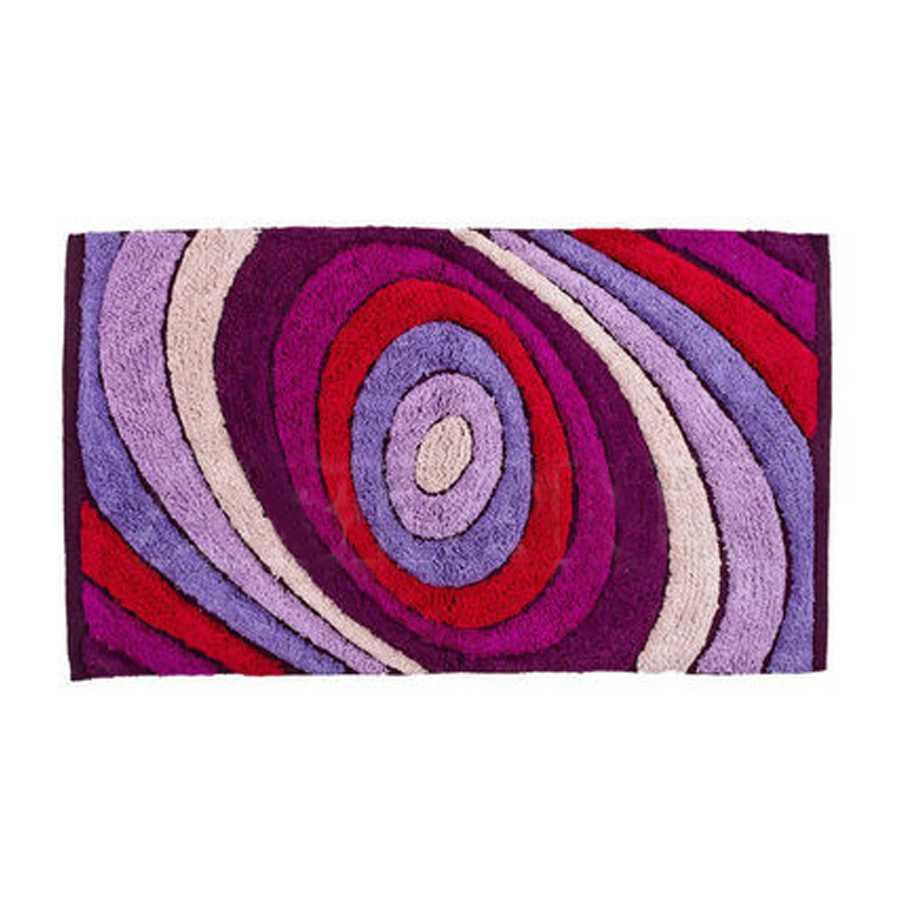 Tappeto bagno cm 80x50 in cotone modello Color multicolor Viola di Cipì Bathroom