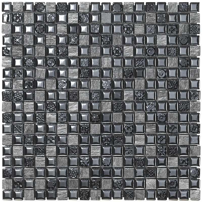 Mosaico da bagno in confezione da 23 fogli cm 30x30 Boxer Mexical Nero -Outlet
