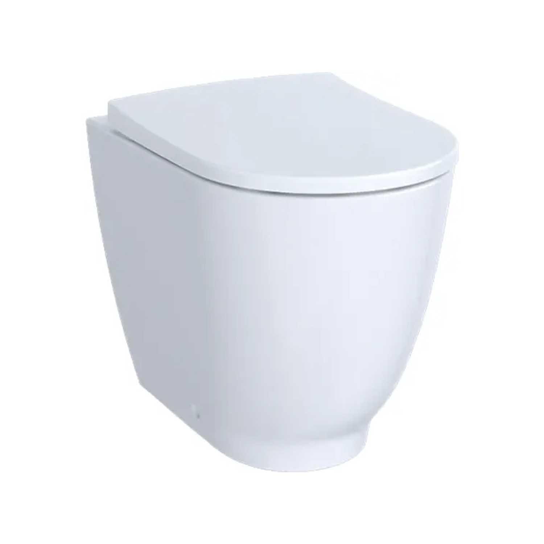 Vaso filomuro con scarico universale e sedile tradizionale modello Acanto Geberit cm 51