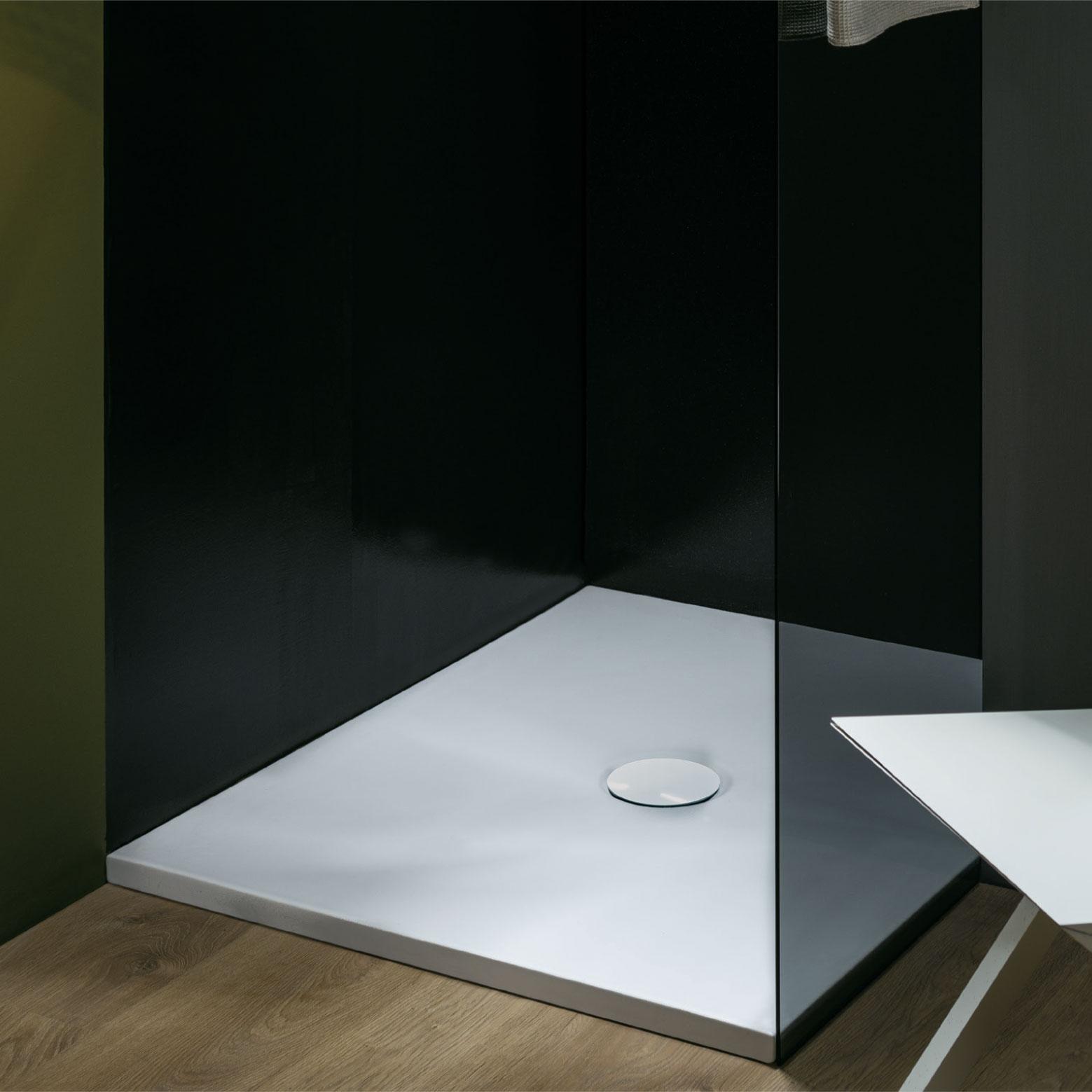 Piatto Doccia altezza 3 cm Uniko 160X100 cm Ceramica Azzurra