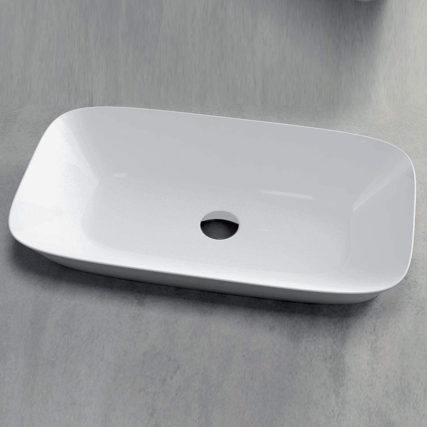 Lavabo incasso o da appoggio cm 50x40 Ceramica Azzurra Prua