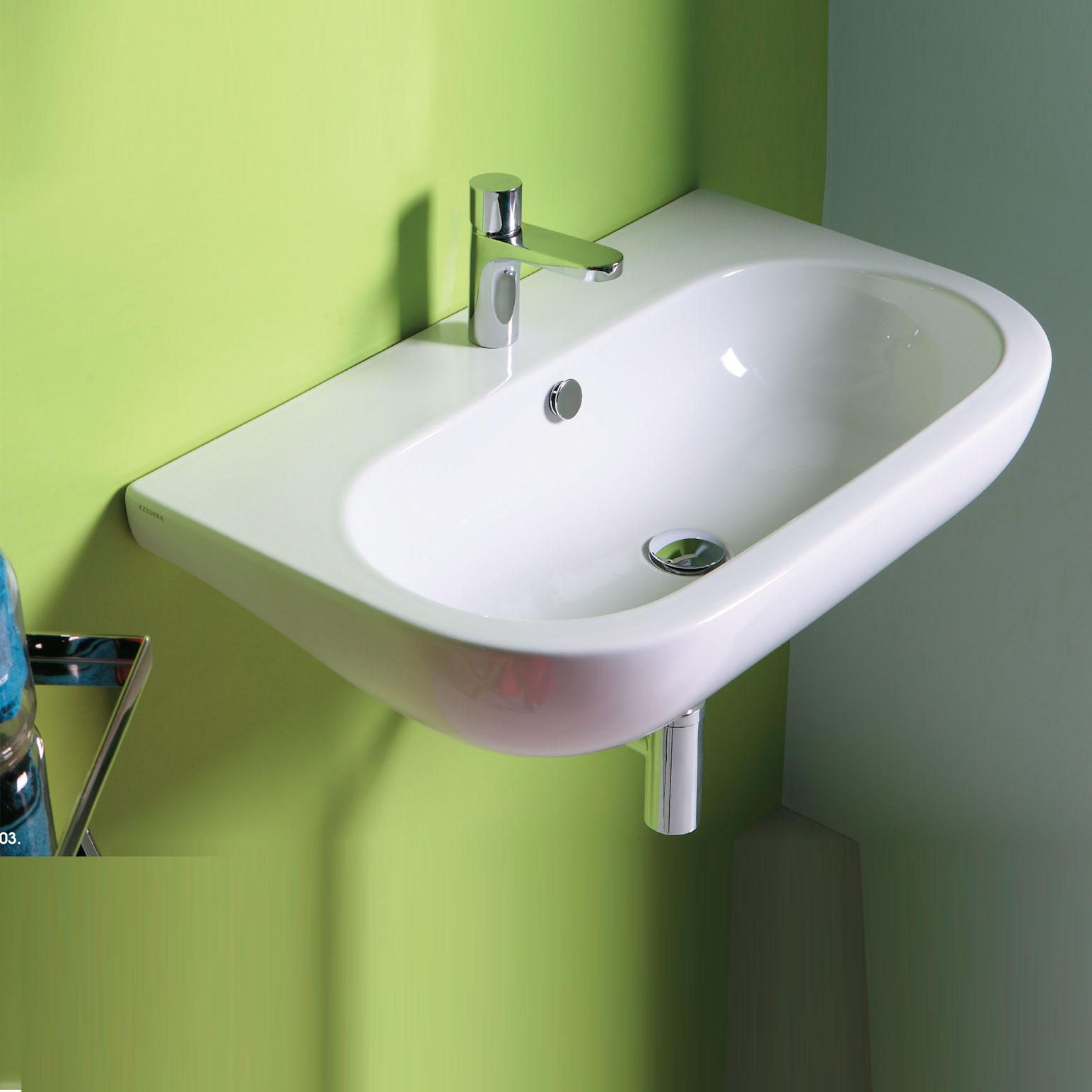 Lavabo Sospeso modello Nuvola 90 Ceramica Azzurra