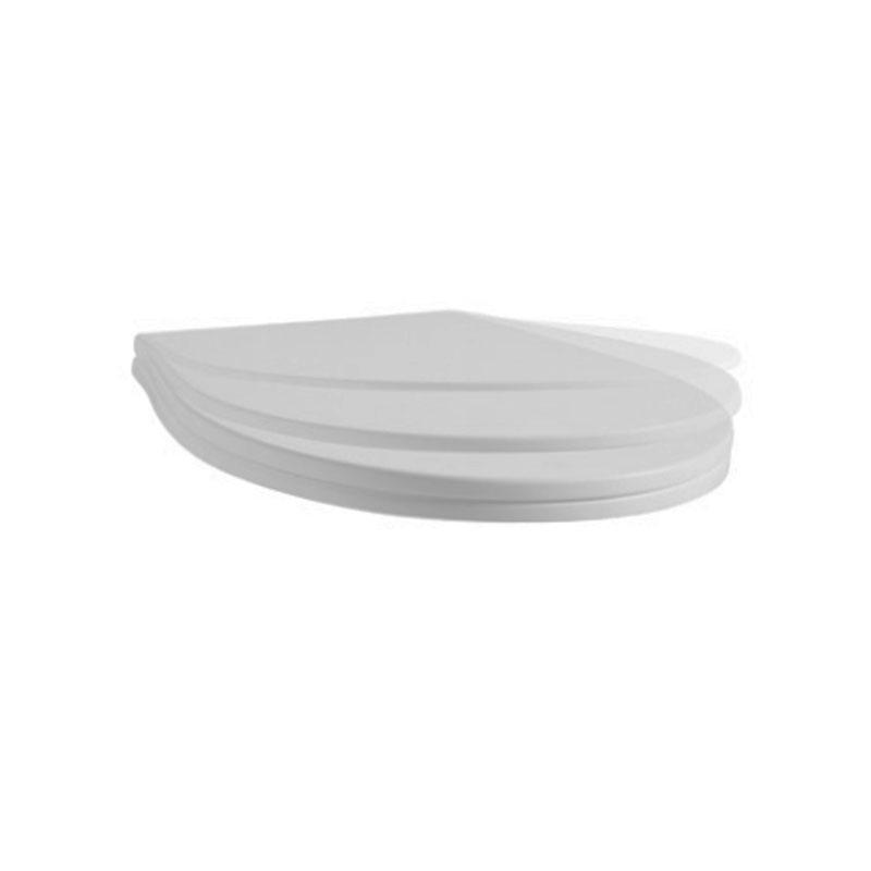 Coprivaso in termoindurente Ceramica Azzurra Vera 55 softclose