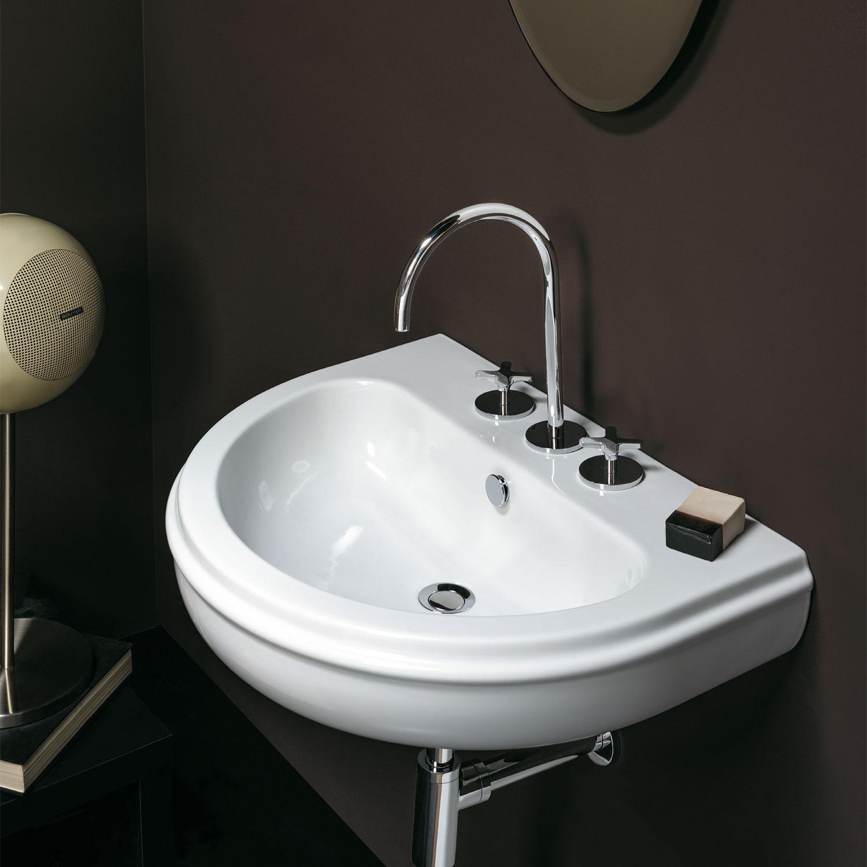 Lavabo da bagno sospeso cm 70 stile classico Ceramica Azzurra Charme