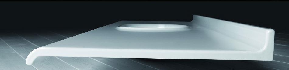 Consolle sospesa in ceramica cm 120x55 con vasca integrata Ceramica Azzurra Size