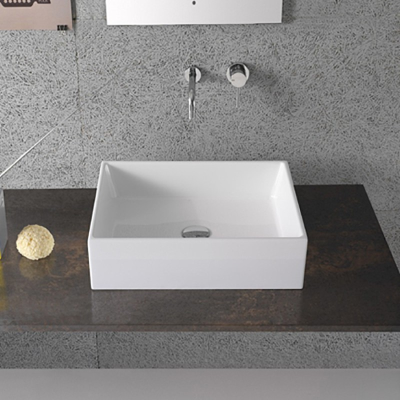 Lavabo da Appoggio Ceramica Globo Forty3 50X37 FO050.BI