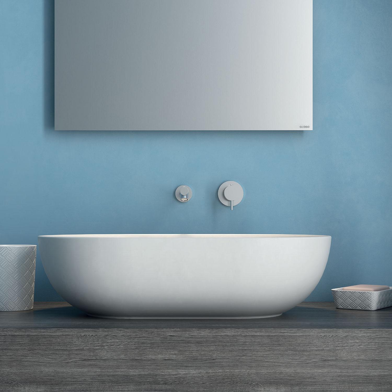 Lavabo da appoggio T-Edge 60x41 cm con bordo sottile Ceramica Globo