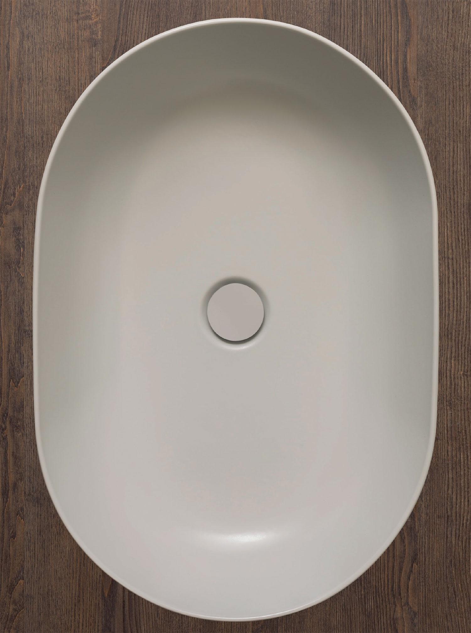 Lavabo da appoggio T-Edge 54x36 cm con bordo sottile Ceramica Globo