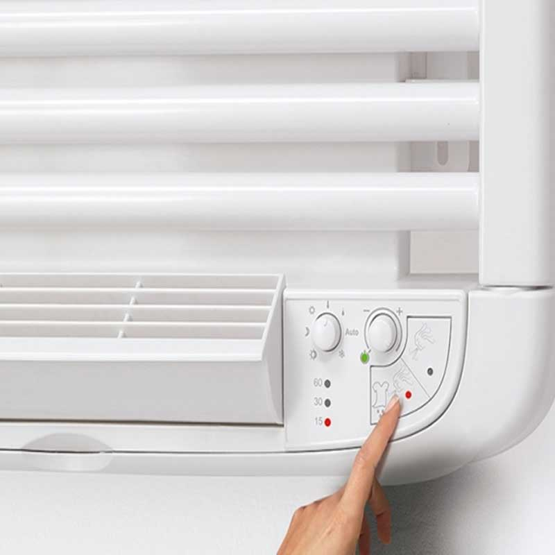 Termoarredo caldobagno elettrico Deltacalor Dryer Electric Plus 1441x500
