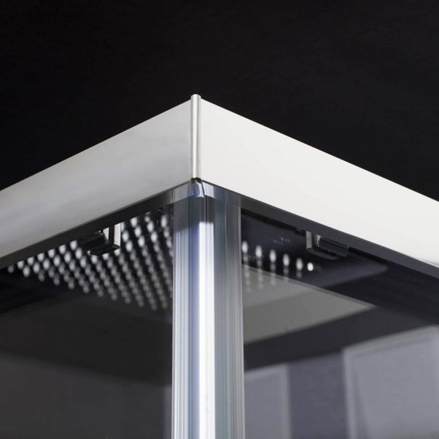 Box doccia Hera 100x80 cm angolare scorrevole in cristallo trasparente 6 mm