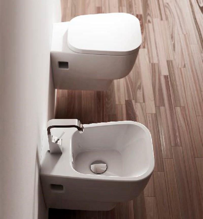 Sanitari Sospesi Ceramica Domus Falerii F50 Small WC, BIDET, SEDILE SOFTCLOSE