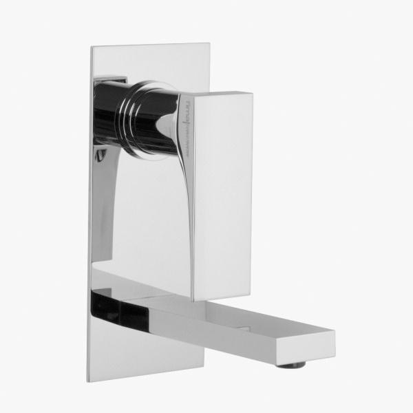 Miscelatore lavabo da incasso verticale FIMA Carlo Frattini ZETA con piletta