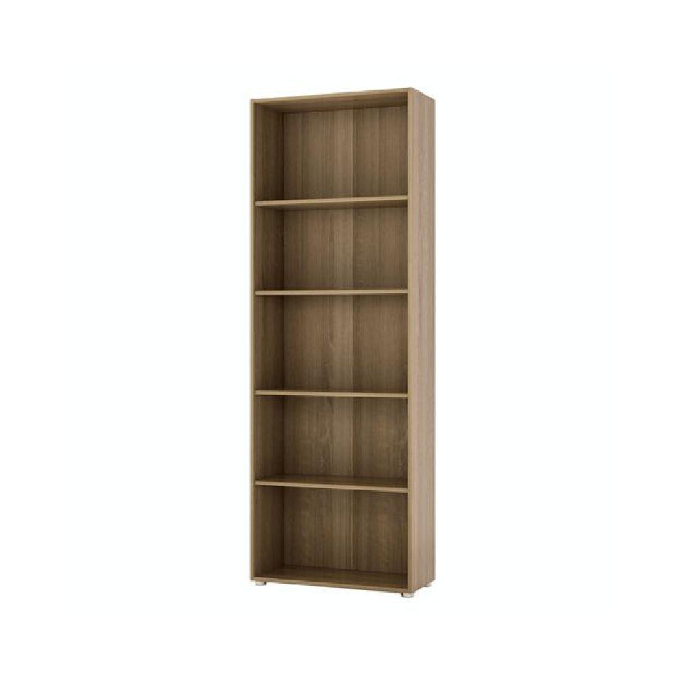 Libreria da ufficio modello ILIO in nobilitato truciolare rovere 30x70x119 con 3 ripiani