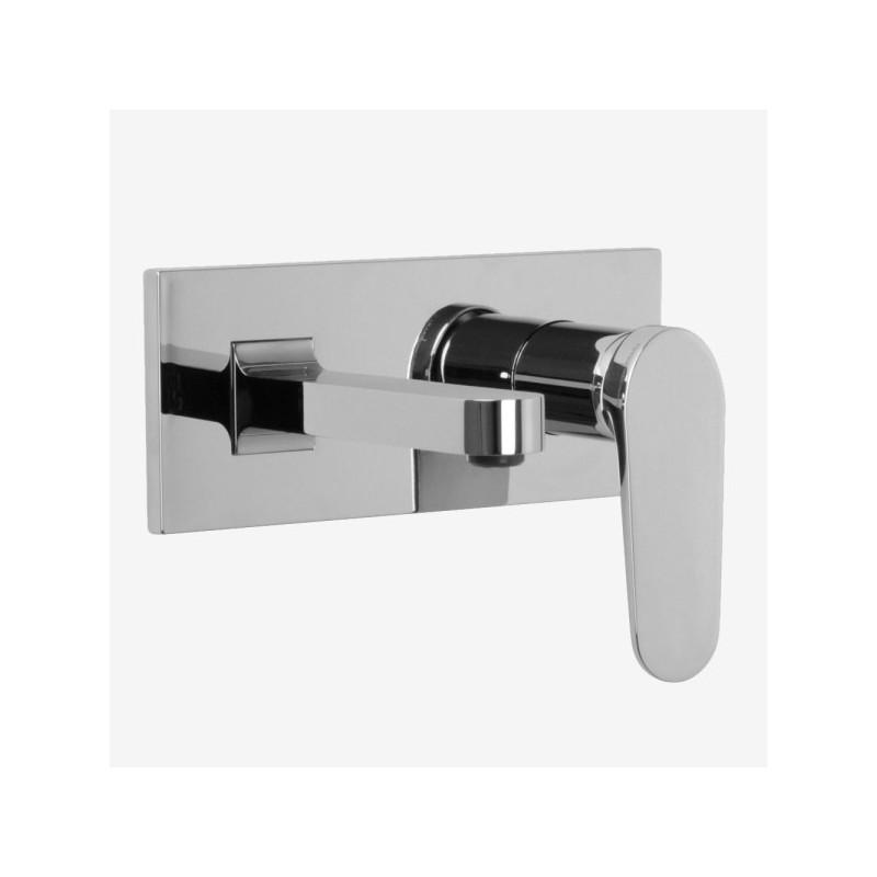 Miscelatore rubinetto lavabo a muro FIMA Carlo Frattini NEXT con leva lunga
