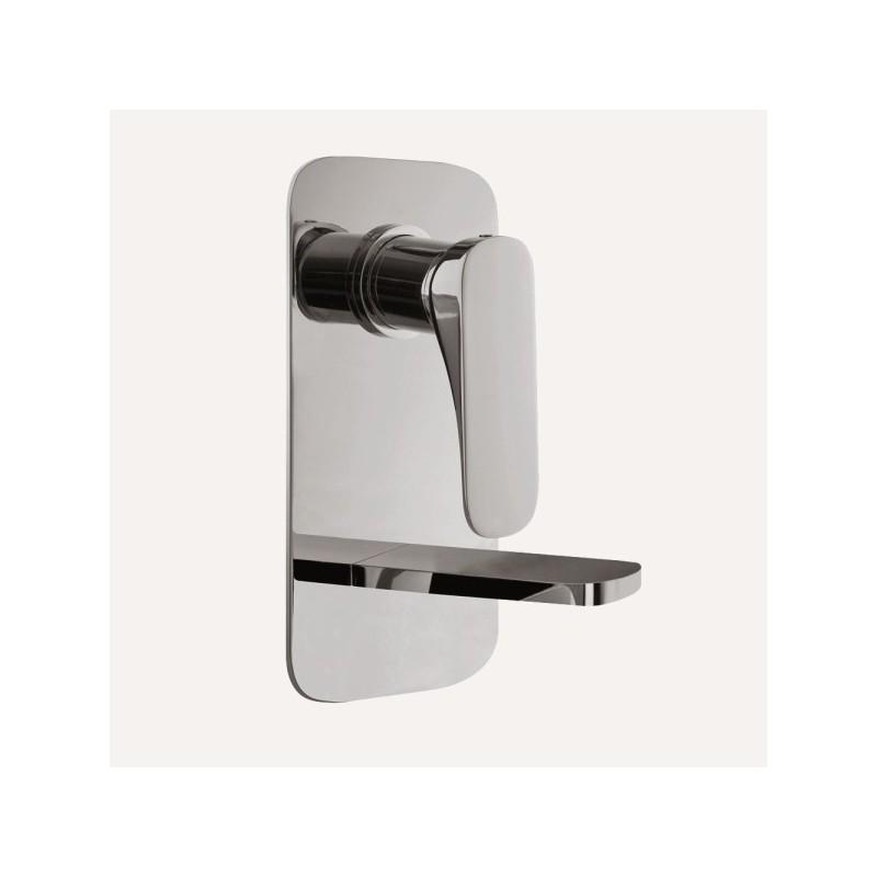 Miscelatore rubinetto lavabo a muro verticale con piletta di scarico FIMA Carlo Frattini QUAD