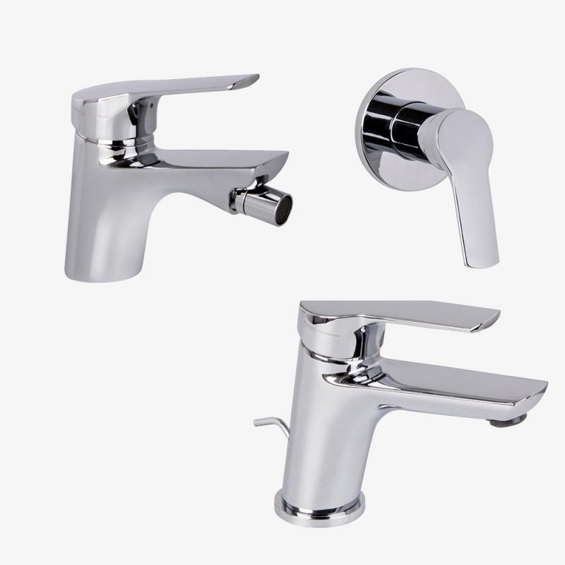 Fima Carlo Frattini Serie 4 lavabo c/scarico + bidet c/scarico + doccia Promo