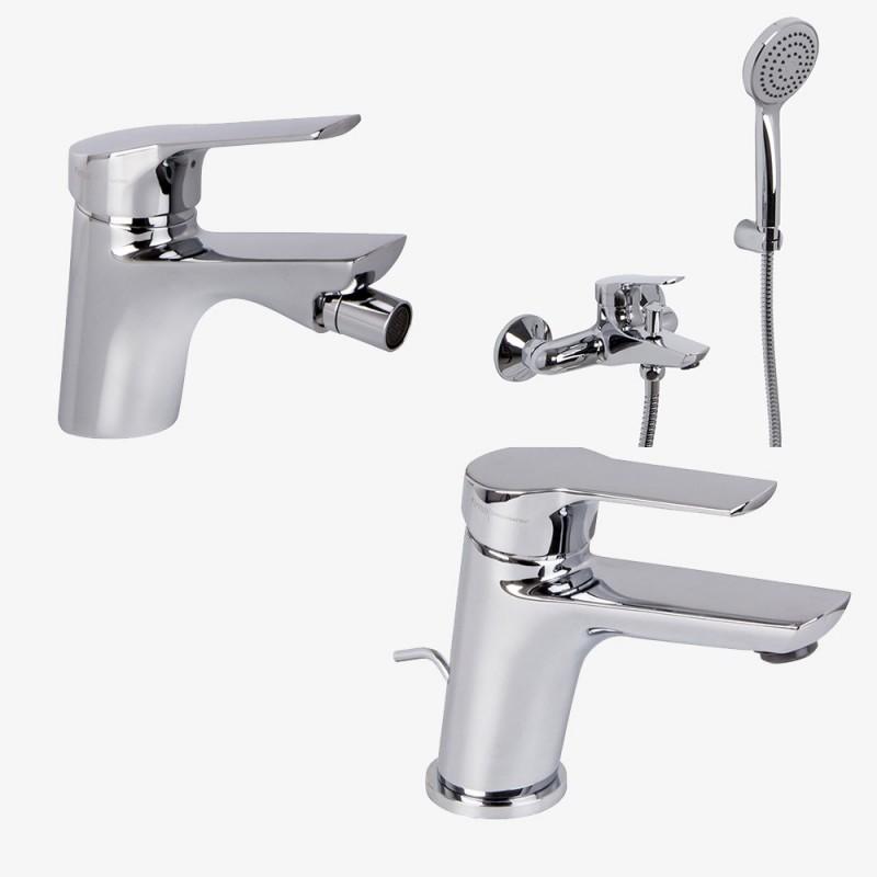 Fima Carlo Frattini Serie 4 lavabo c/scarico + bidet c/scarico + vasca