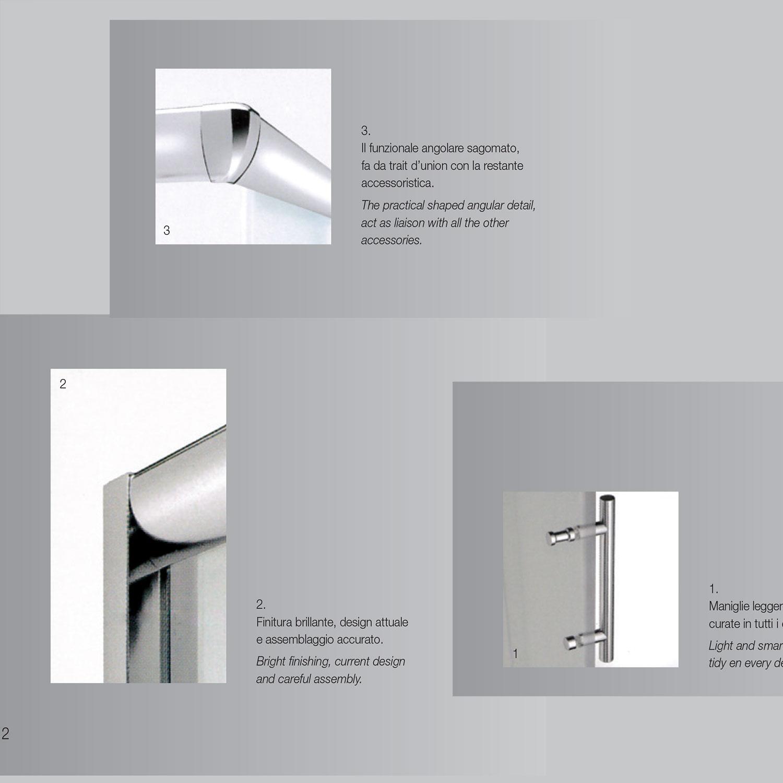 Box doccia angolare in cristallo serigrafato da 6 mm 75x75 profilo cromo brillante