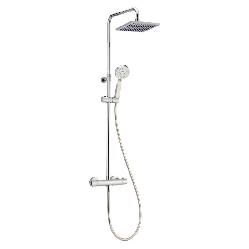 Colonna doccia termostatica e telescopica Huber Primavera Safe Touch