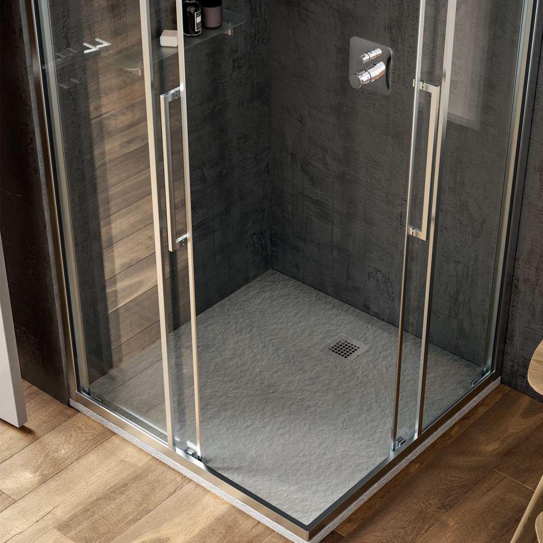 Piatto doccia Effetto Pietra 80x80 Ideal Standard Ultra Flat S- Piletta NON inclusa