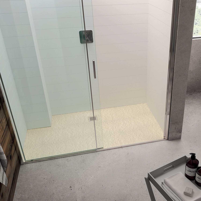 Piatto doccia rettangolare Effetto Pietra 80x100 Ideal Standard Ultra Flat S- Piletta NON inclusa