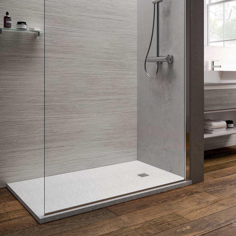 Piatto doccia rettangolare Effetto Pietra 80x160 Ideal Standard Ultra Flat S- Piletta NON inclusa