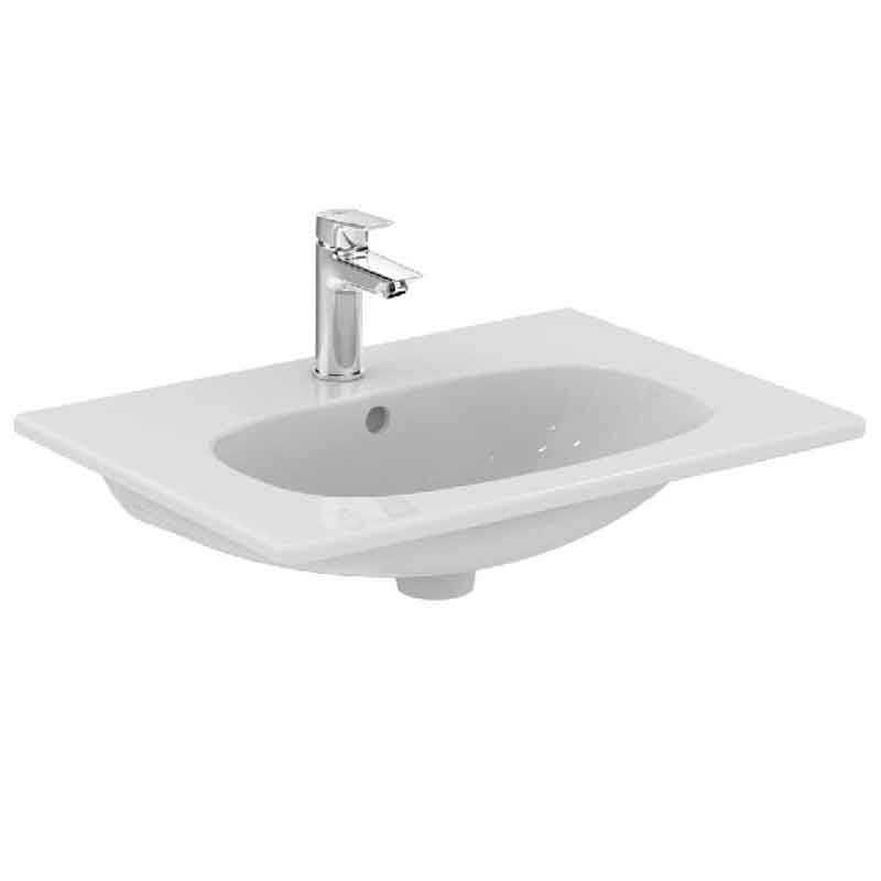 Lavabo sospeso 60x45 design moderno in ceramica Ideal Standard Tesi