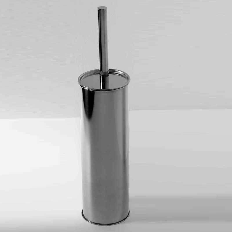 Scopino WC in acciaio cromato con ciuffo in setole modello BASIC by ARES