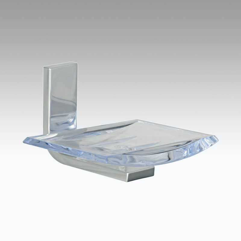 Portasapone da parete in alluminio e policarbonato modello Materia Koh-i-Noor