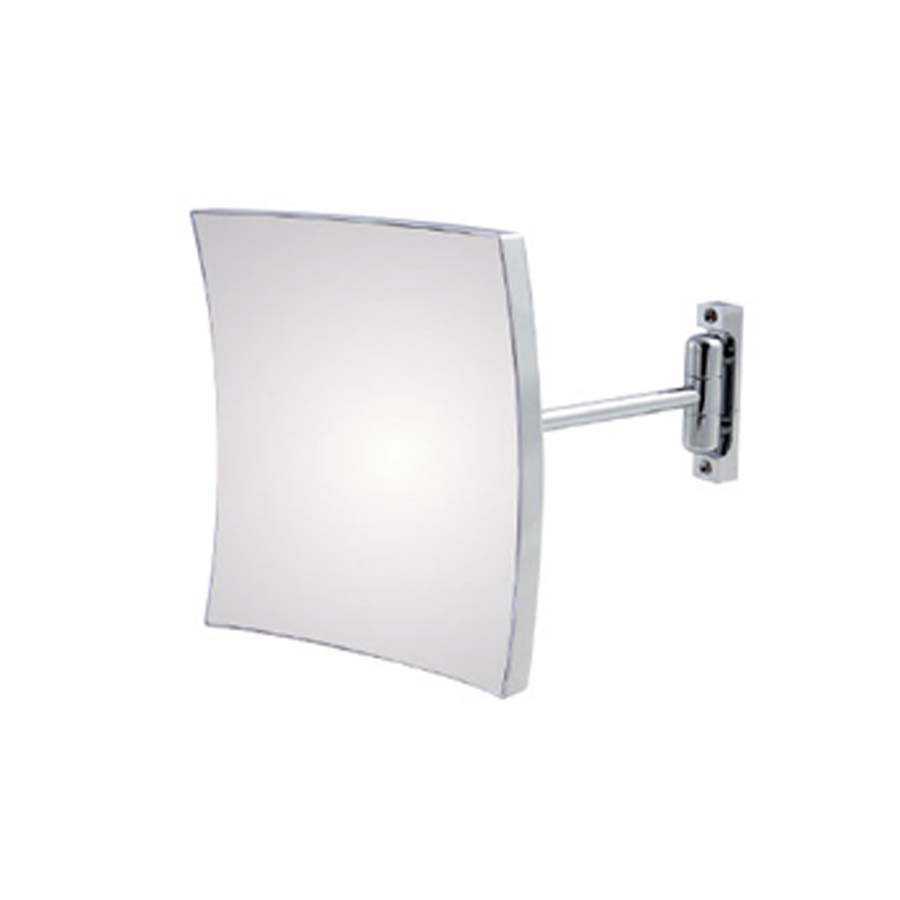 Specchio ingranditore Koh-i-noor Quadrolo ottone cromato con braccio singolo
